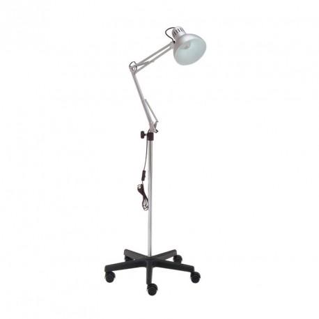 Lámpara de exploracion con peana de PVC y 5 ruedas
