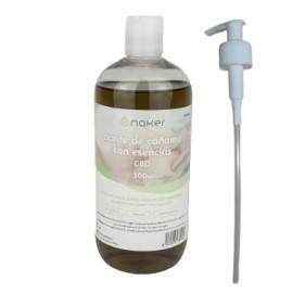 Aceite de masaje con cáñamo y esencias NAKER 500ml
