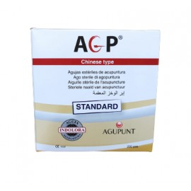 Aguja AGP STANDARD 200ud (mango cobre envase papel individual)
