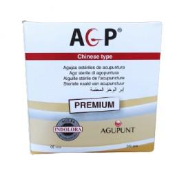 Aguja AGP PREMIUM 200ud (mango plata envase papel individual)