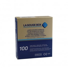 GUBIAS estériles Gouge Box, varios tamaños 100 ud