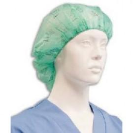 Gorros Papel circular enfermera 100 Unidades color verde