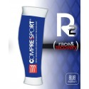 Compressport R2, Media de compresión pantorrillera, Color Azul