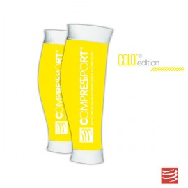 Compressport R2, Media de compresión pantorrillera, Color Amarillo
