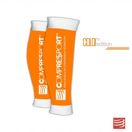 Compressport R2, Media de compresión pantorrillera, Color Naranja