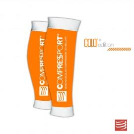Compressport R2, Media de compresión pantorrillera, Color Naranja