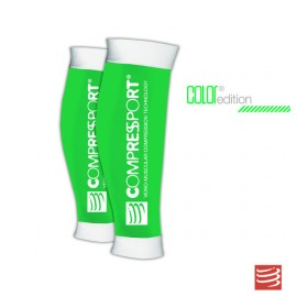 Compressport R2, Media de compresión pantorrillera, Color Verde