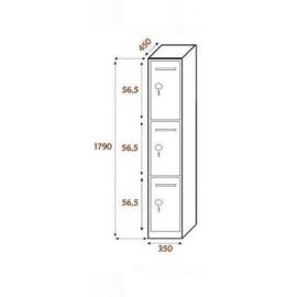 3 compartimentos