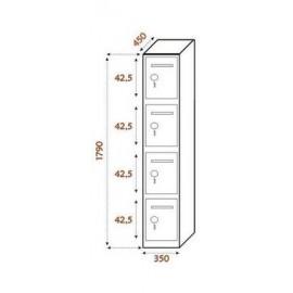 4 compartimentos