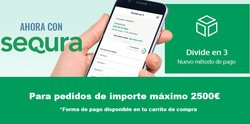 FINANCIACIÓN 3 MESES SIN INTERESES CON SEQURA